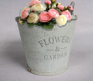 Log Color Simple Plywood Flower Pot pictures & photos