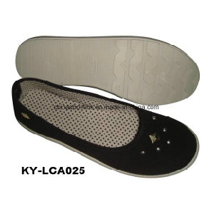 China Wholesale Colorful Lady Casual Shoes Canvas Upper Injection Sole pictures & photos