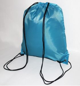 Printing Custom Logo Polyester Drawstring Bag pictures & photos