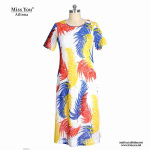 Miss You Ailinna 802030-3 Women One Piece Print Feather Dress Distributor pictures & photos