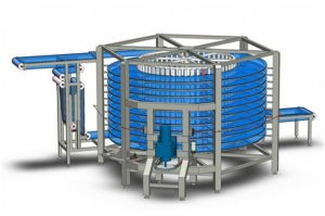 Industrial Food Factory Carrier Spiral Cooling Tower for Bread, Cake pictures & photos