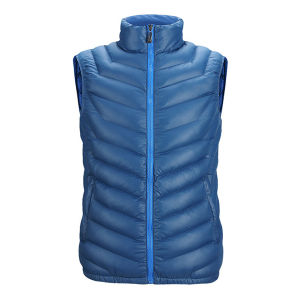 Men Autumn Wear Sleeveless Faked Down Jacket with Nylon Fabric pictures & photos