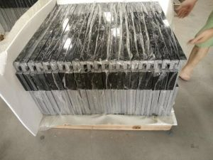 Black Quartz Stone Countertops Vanity Top pictures & photos