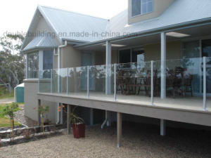 Villa Balustrade Design Safety Tempered Glass Railing in Fiji pictures & photos