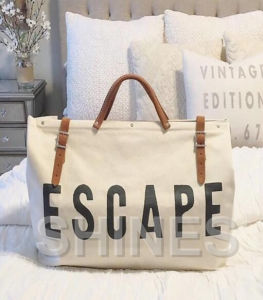 White Linen Women Bag