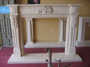 Stone Carving Marble Sculpture Fireplace Mantel Fireplace Surround pictures & photos
