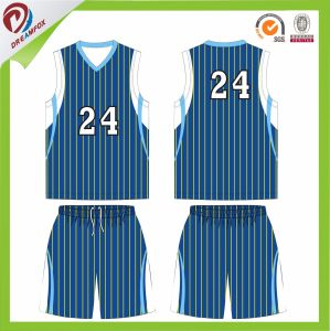 Sublimated Stripe Women Basketball Team Uniform with Panton Colors pictures & photos