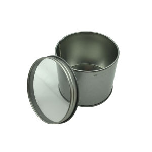 Wholesale Tin Box Metal Round Empty Tin Can with Clear PVC Window pictures & photos