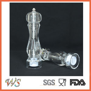 Ws-Pgs024 High Quality Acrylic Salt and Pepper Mill Set Spice Pepper Grinder