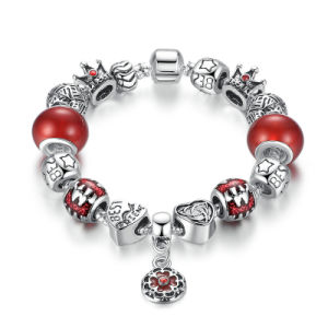 Antique Flower Pendant & Red Beads, Star Crown Charms Bracelets Jewelry pictures & photos