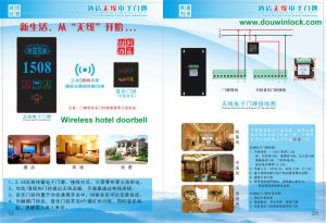 Hotel Electronical Room Touch Screen Wireless Door Bell pictures & photos