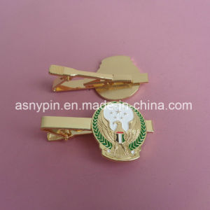 UAE Logo Gold Porpular Tie Clip for UAE 44th National Day pictures & photos