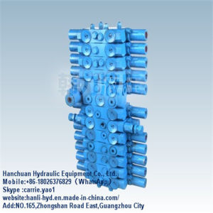 Rexroth Hydraulic 15tons Multi-Way Oil Control Valve for Excavator