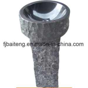 Natural Granite Stone Pedestal Sinks pictures & photos