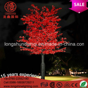 LED Christmas Yellow 220V 12V LED Palm Maple Tree Light for Home Garden Decoration pictures & photos