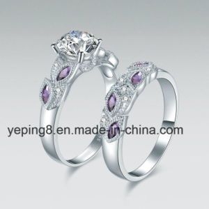 Purple Leaf Design Bridal Ring Set - 40 pictures & photos