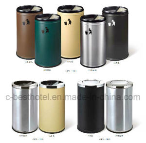 Hotel Stainless Steel Round Waste Bin Ashtray Bin Dustbin pictures & photos