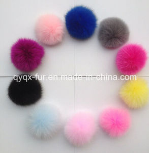 Natural&Colorful Fox Fur POM Poms pictures & photos