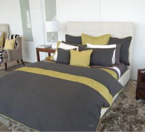 Hidden Pleats Grey Color Micro Fiber Comforter Set pictures & photos