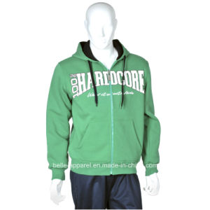 Men′s Good Quality Cotton Brushed Fleece Jacket Hoodies pictures & photos