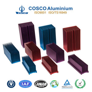 Custom Anodized Aluminum Radiator/Heat Sink with ISO9001 Certified pictures & photos