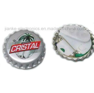 LED Light Flashing Bottle Cap Badges with Logo Printed (3569) pictures & photos
