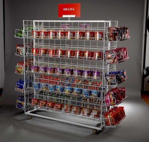 Metal Supermarket Display Rack