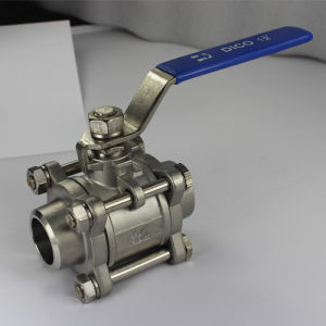 3PC Butt Weld Ball Valve with Locking Handle pictures & photos