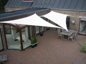 100% New HDPE Sun Shade Sail, Canopy, Awning - Cream Color (Manufacturer) pictures & photos