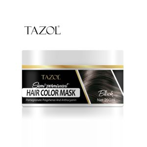 Tazol Semi-Permanant Hair Color Mask 200g with Black Color pictures & photos
