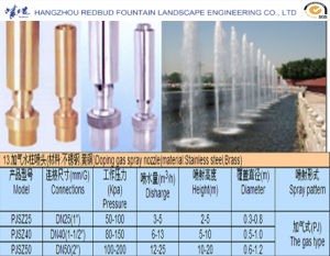 Doping Gas Spray Fountain Nozzle (Definite direction) in Stainless Steel or Brass pictures & photos