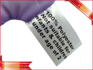 Factory Made Garment Satin Flag Label Printed Satin Label pictures & photos