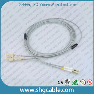Sc-LC mm Duplex Armored Fiber Optic Cable Patch Cord pictures & photos