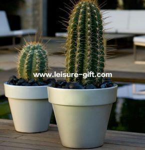 Fo-306 Lacquered Outdoor Fiberglass Flower Pot pictures & photos