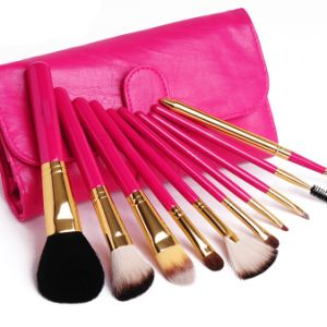 Shiny Cosmetic Beauty Tool Makeup Brush Set pictures & photos