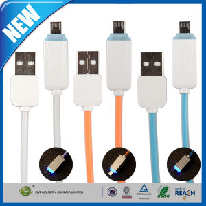 Micro Charging Data Sync USB Cable LED Light pictures & photos