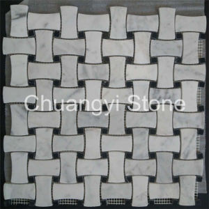 Marble Stone White Mosaic Tile for Home Decoration