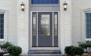 Customized high Quality Iron Entry Building Doors with Sidelight (UID-S055) pictures & photos