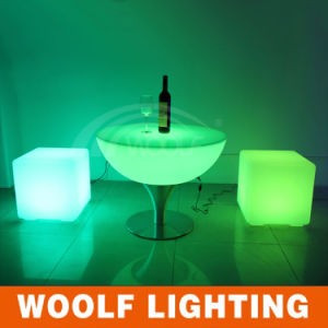 LED Round Cocktail Table, RGB Dinner Table, Hotel Table pictures & photos