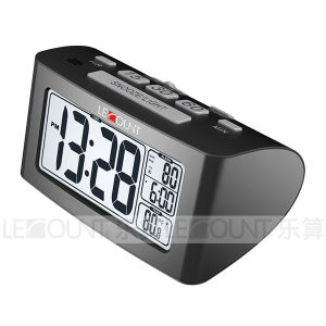 Nap LCD Desk Clock with Indoor Temperature Measurement (CL156) pictures & photos