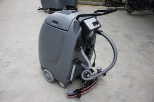 Mini Handpush Cable-Type Floor Scrubber for Hosptal pictures & photos