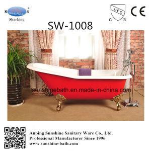 Freestanding Slipper Cast Iron Bathtub Sw-1008
