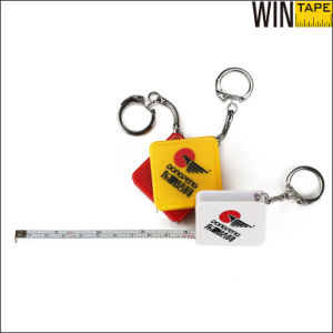 Square Shpe Custom Mini Steel Tape Measure with Key Chain (MST-026) pictures & photos