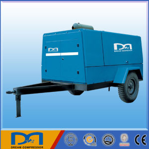 Portable Diesel Engine Screw Air Compressor for Mining Jack Hammer pictures & photos