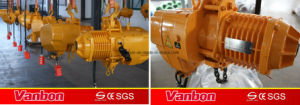 15ton Electric Chain with Electric Trolley Hoist pictures & photos