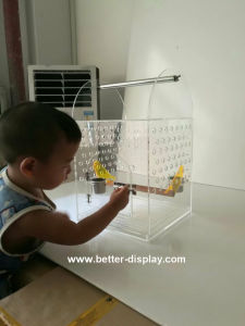 Clear Large Plastic Acrylic Bird Cage pictures & photos