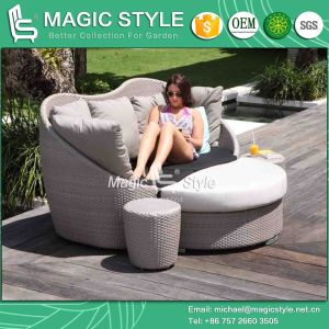 Daybed Rattan Daybed Wicker Daybed Morden Daybed Sun Bed Deck Sofa 2-Seater Sofa Bench Sofa Leisure Daybed (Magic Style) pictures & photos