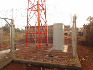 Steel Wire Mesh Fence for Telecom Infrastructure