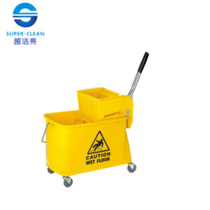 Plastic 20L Single Mop Wringer Trolley Bucket pictures & photos