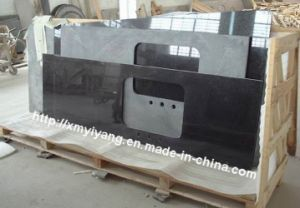 Prefabricated Black Granite Countertops for Kitchen pictures & photos